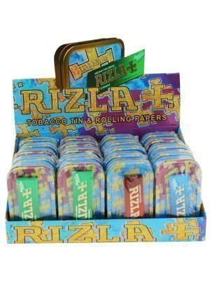 Wholesale Rizla 1 Oz Metal Tins & Rolling Papers - 20 Pcs
