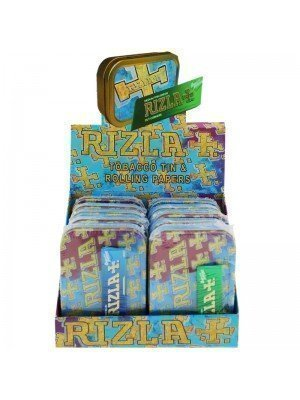 Wholesale Rizla 2 Oz Metal Tins & Rolling Papers - 10 Pcs