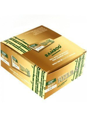 Wholesale Rizla Bamboo Ultra Thin King Size Slim + Tips Rolling Paper - Combi Pack