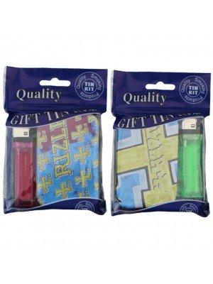 Wholesale Rizla Gift Tin Kit Set - 1oz - Assorted Designs