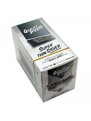 Wholesale Rizla Silver Super Thin Rolling Papers Regular Size Box Of 100 Booklets