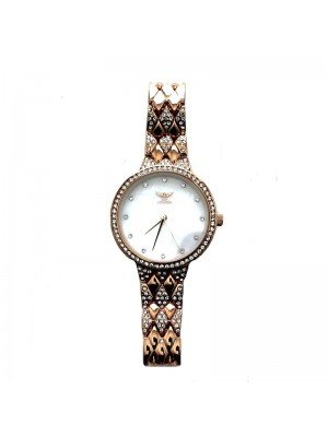 NY London Ladies Small Diamond Watch - Rose Gold