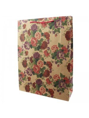 Roses Design Gift Bag - Large (42cm x 31cm x 10cm)