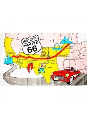Route 66 Flag - 5ft x 3ft