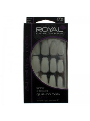 Royal 24 Glue-On Nail Tips - Coffin