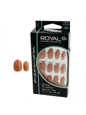 Royal 24 Glue-On Nail Tips - In The Buff