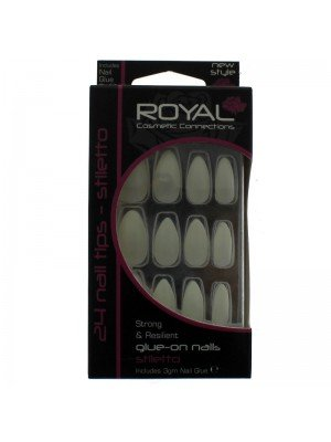 Royal 24 Glue-On Nail Tips - Stiletto