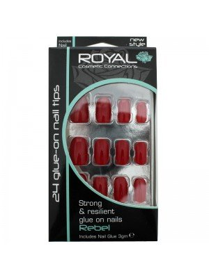 Royal 24 Glue-On Nail Tips - Rebel