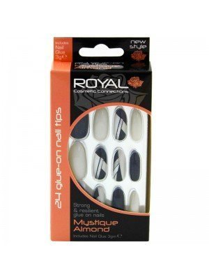 Wholesale Royal Cosmetics 24 Glue-On Nail Tips - Mystique Almond