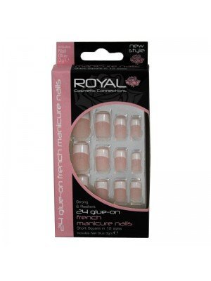 Royal Cosmetics 'Short Square' 24 French Manicure Nails