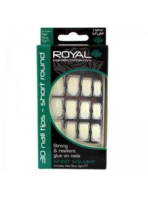 oyal Cosmetics 'Short Square' 40 Glue-on Nail Tips