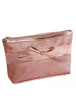 Wholesale Royal Cosmetics Rose Gold Cosmetic Bag