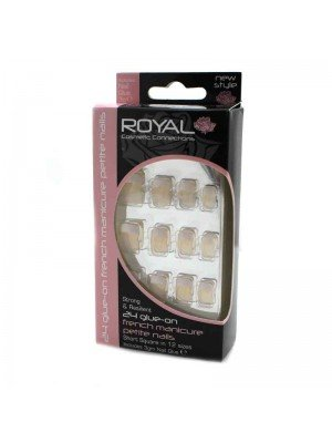 Royal Glue On French Manicure Nails