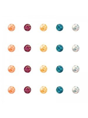 Wholesale Round glitter nose pin-2mm