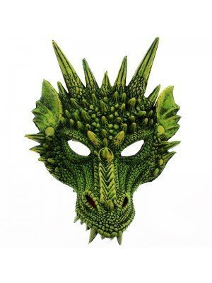 Rubber Dragon Mask - Green
