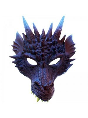 Rubber Dragon Mask - Purple