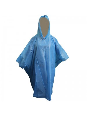 Wholesale Emergency Rain Poncho One Size - Blue