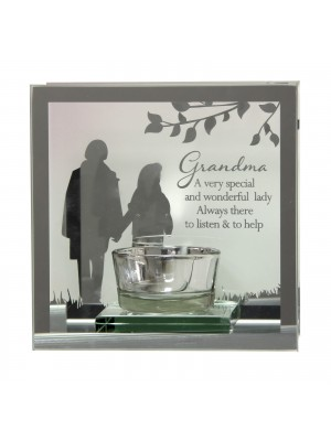 Wholesale Mirror Tealight Glass Candle Holder - Grandma