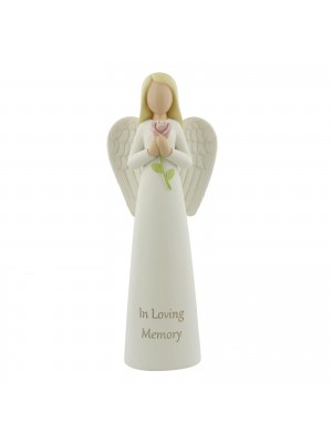 In Loving Memory - Memorial Standing Angel