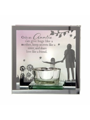 Wholesale Mirror Tealight Glass Candle Holder - Auntie