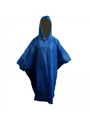 Wholesale Emergency Rain Poncho One Size - Dark Blue