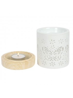 Ceramic Butterfly Oil Burner