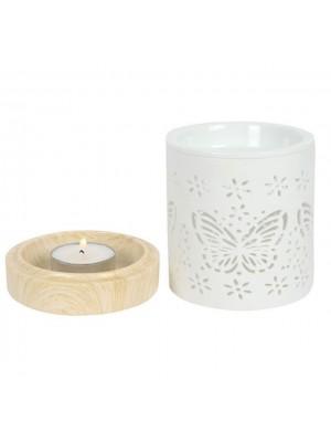 Ceramic Butterfly Oil Burner