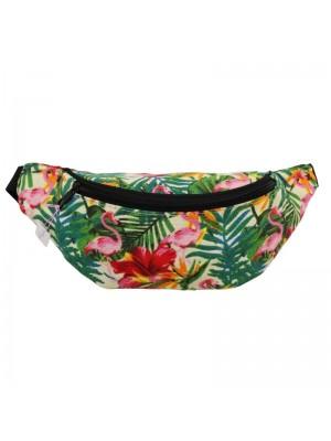 Wholesale Tropical Design Bum Bag - Assorted Colours