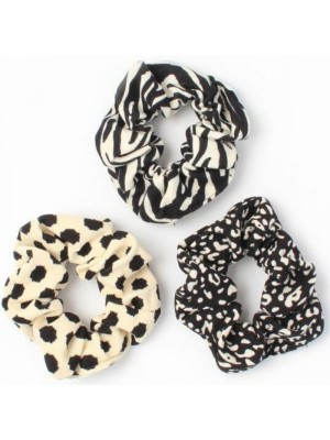 Wholesale Black And White Scrunchies