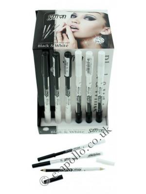 Wholesale Saffron Contour Eyeliner Pencil - Black & White
