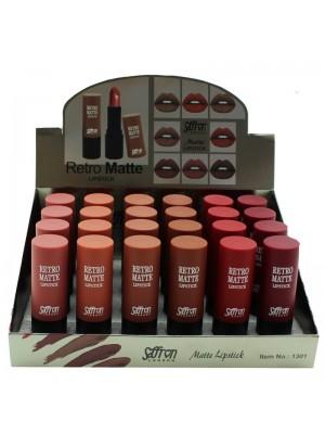 Saffron Retro Matte Lipstick- Assorted Shades Tray A