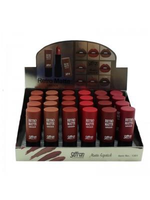 Saffron Retro Matte Lipstick- Assorted Shades Tray B