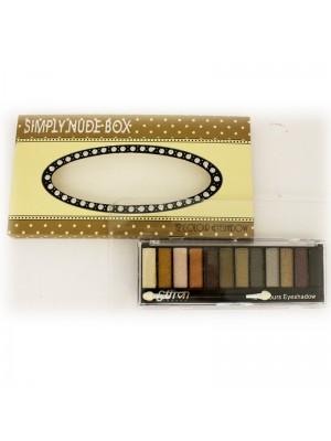 Wholesale Saffron Simply Nude Box -12 Colour Eyeshadow Set