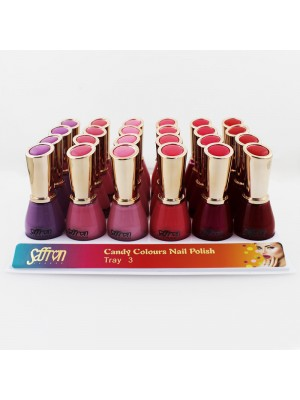 Saffron Candy Colours Nail Polish - Tray 3