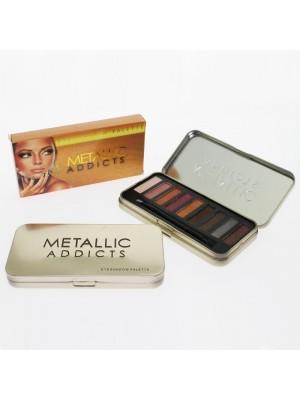 Wholesale Saffron Eyeshadow Palette - Metallic Addicts