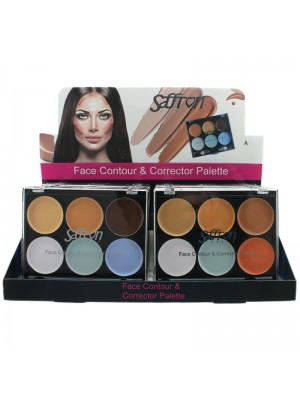 Saffron Face & Contour Corrector Palette - Assorted Colours
