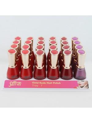 Saffron Vivid Reds Nail Polish - Tray 7