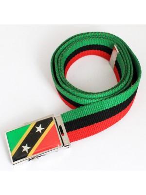 Men's Canvas Belt - Saint Kitts & Nevis Flag