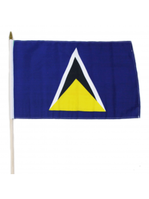"Wholesale Saint Lucia Hand Flag - 12"" x 18"""