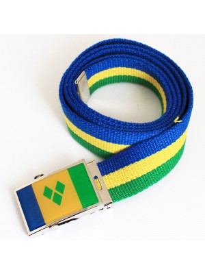 Men's Canvas Belt - Saint Vincent & Grenadines Flag