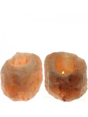 Himalayan Rock Salt Tea Light Candle Holder