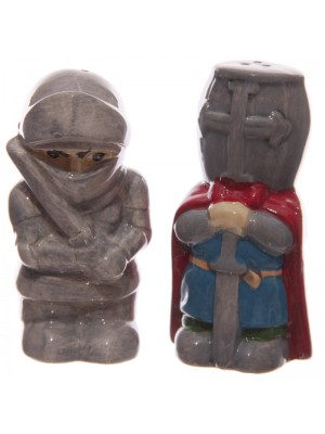 Salt & Pepper Ceramic Cruet Set - Knights