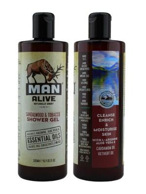 Wholesale Man Alive Shower Gel For Mens - Sandalwood