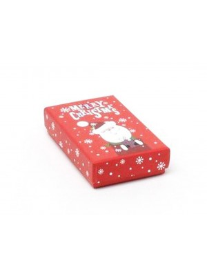 Santa Print Gift Box - 8x5x2cm