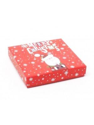 Santa Print Gift Box - 9x9x2cm