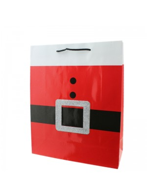 Santa Claus Belt Design Gift Bag - Large (26cm x 32cm x 10cm)