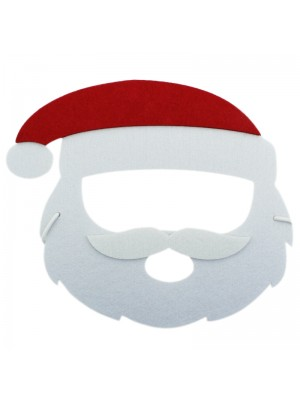 Santa Claus Design Felt Christmas Face Masks