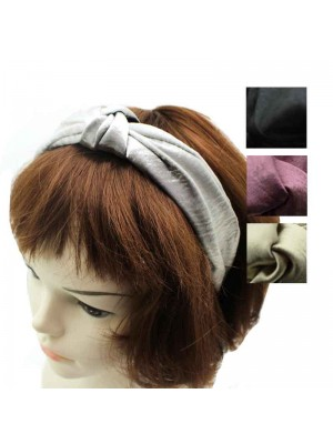 Wide Satin Headbands - Assorted Colours 4 pack