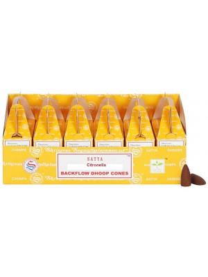 Satya Backflow Dhoop Cones - Citronella