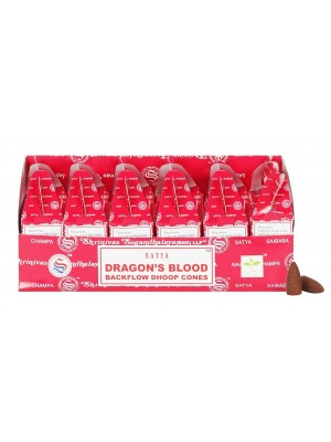 Wholesale Satya Backflow Dhoop Cones-Dragon's Blood